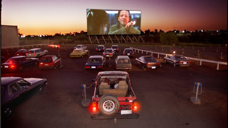 The old days: Coburg drive-in is one of the last operating outdoor cinemas in Victoria.
