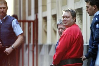Ready to roll: the Purana Taskforce helped Nicola Gobbo conceal evidence in their pursuit of gangland kingpin Carl Williams, pictured here leaving court in 2004.