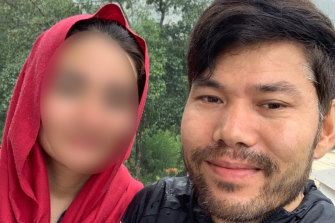 Javid is desperate to get his wife (pictured) to Australia.She lives in Ghazni on the outskirts of Kabul.