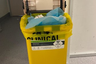 Staff are concerned about infection control at the Alfred's COVID-19 ward.