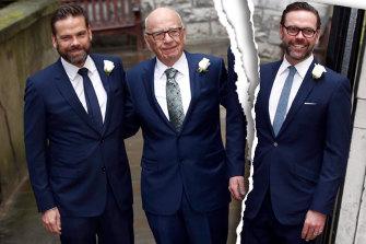 Lachlan, Rupert and James Murdoch.