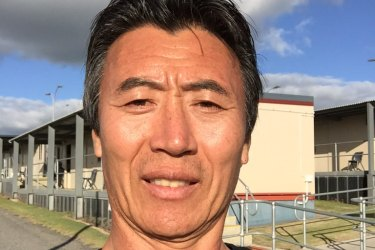 Ta Sa Wong pictured inside Yongah Hill detention centre in Western Australia, not long before his deportation in August 2019.