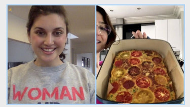 Jamila Rizvi and Alice Zaslavsky had a zucchini slice bake-off with members of the Quarantine with Jam and Clare Facebook group.