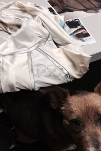 A photo taken of Freeman's bodysuit in 2014 at Auburn police station, where Jennifer Irwin, accompanied by her dog Bella, went to identify it.