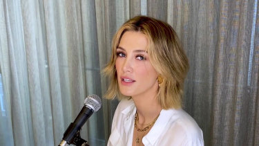 Delta Goodrem has released a new single called Keep Climbing.