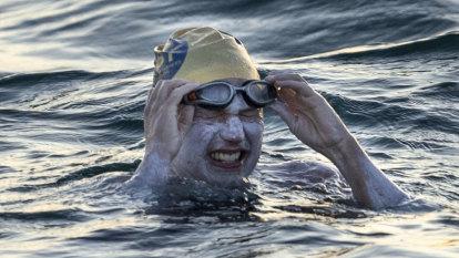 A cancer survivor's historic swim: Four non-stop English Channel crossings