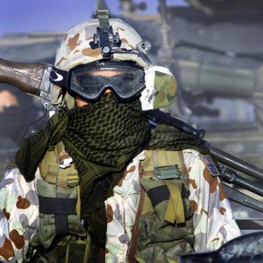 SAS soldiers on patrol in Afghanistan in 2005.