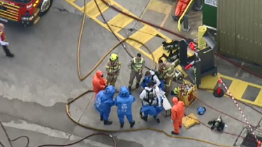 Seven people were hospitalised.