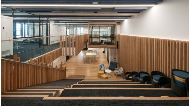 One of the projects by Cadwell Construction, the year 12 learning hub at Kincoppal-Rose Bay School.