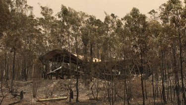 One home that couldn't be saved in Cobraball near the central Queensland town of Yeppoon at the weekend.