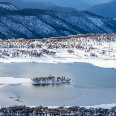 """Three Mile Dam in the Kosciuszko National Park. Photographer Charles Davis says """"this place is right next to the main road but if you didn't know what was there you would never understand how wild an area it really is""""."""