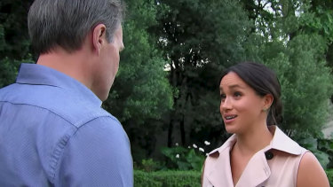 Tom Bradby interviews the Duchess of Sussex in Africa for a documentary.