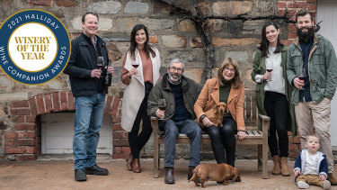The Henschke family after learning Halliday Wine Companion 2021 had named their winery the best this year.