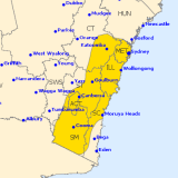The Bureau's severe weather warning for Friday and Saturday includes the Sydney area.