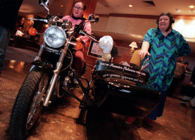 TVs 'Two Fat Ladies',  Jennifer Paterson  and Clarissa Dickson Wright