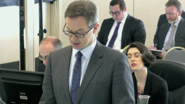 The commission's senior counsel assisting Mr Peter Gray, QC.