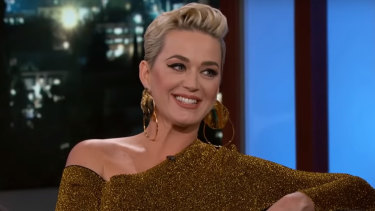 Katy Perry discussed her engagement to Orlando Bloom.