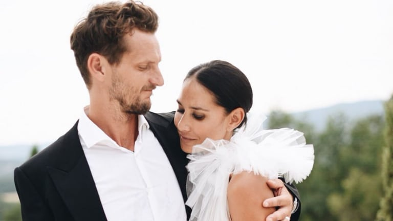 Lindy Rama-Ellis and Adam Ellis' wedding in Tuscany earlier this month.