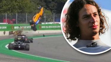 Alex Peroni'sterrifying airborne crash at the Italian Grand Prix at Monza.
