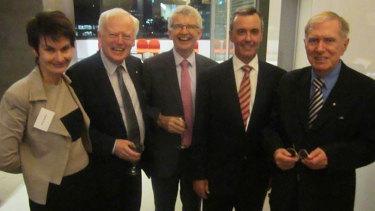 (From left) Anne Britton, Kevin O'Connor, Dennis O'Brien, Greg Keating and Justice Michael Kirby.