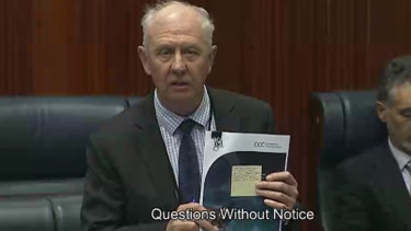 Corrective Services Minister Fran Logan in Parliament defending the McGowan Government's record on prisons.