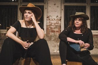 Carly Ellis and Penny Larkins in Voyage.