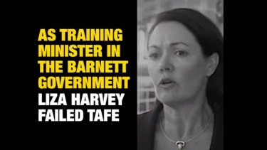 Labor has launched an attack ad on Liberal leader Liza Harvey over her time as training minister.