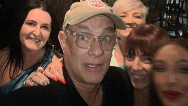 Tom Hanks with excited diners at Mr Wong on March 8.