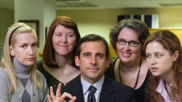 Steve Carrell plays a dysfunctional boss in The Office.