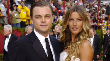 Leonardo DiCaprio and Gisele Bundchen at the Oscars in 2005.