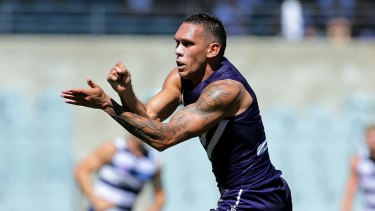 Harley Bennell suffered multiple calf strains in four seasons at the Dockers.