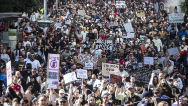 Thousands of protesters stormed the streets of Melbourne's CBD on Saturday.