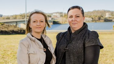 Suzie Ratcliffe, left, and AFP expert in missing children Rebecca Kotz campaign to provide families with answers.