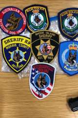 A selection of the patches seized.