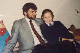 Samantha Smorgon as a child with her father, Robert Smorgon.