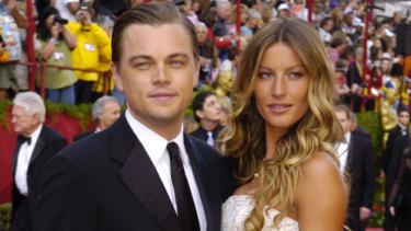 Leonardo DiCaprio and Gisele Bundchen at the Oscars in 2005.