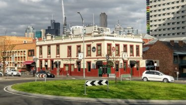 The Corkman Irish pub in Carlton, built in 1858, as it was until it was illegally demolished in 2016.