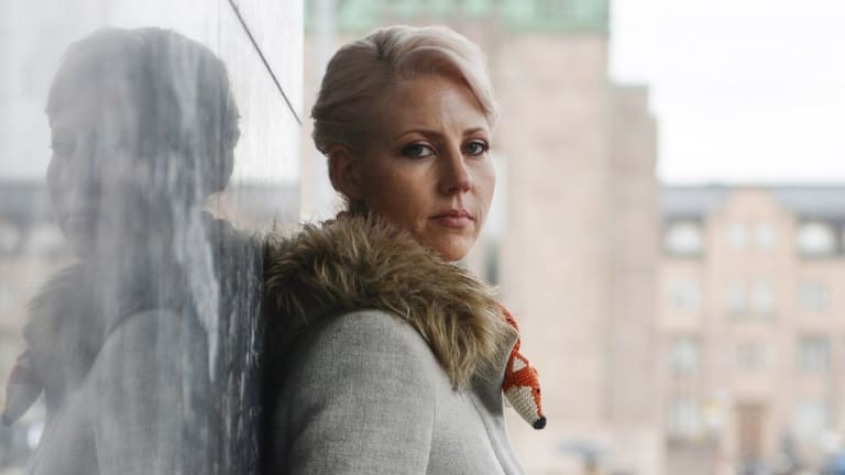 Jessikka Aro, an investigative reporter with the social media division of Finland's state broadcaster, Yle Kioski, who was harassed after reporting on the rise of abusive pro-Russian posts on the Internet, pictured in Helsinki, in April 2016.