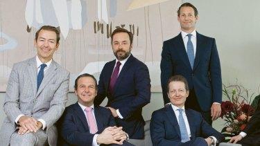 Pictet's partners today (left to right): , Rémy Best, Laurent Ramsey, Bertrand Demole, Renaud de Planta, Marc Pictet, Sébastien Eisinger and Boris Collardi.
