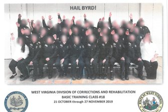West Virginia corrections trainees were told by their instructor to perform a Nazi salute, an inquiry into the incident has found.