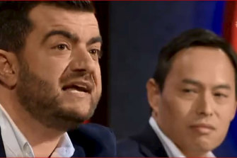 Sam Dastyari and Q&A panellist John Lee.