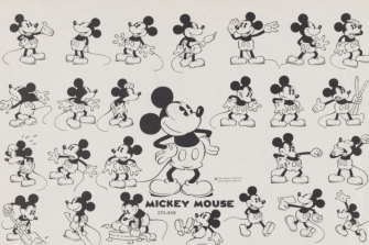 Early images of Mickey Mouse, who made his screen debut in 1928.