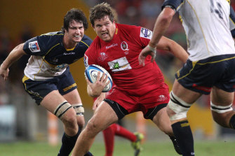 Greg Holmes playing for the Reds in 2012.