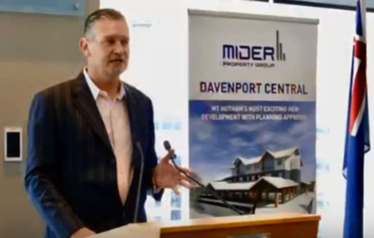 Anton Wilson at the Davenport Central launch in March 2018.