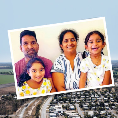 """The town of Biloela, and (insert) the  Murugappan family: """"They didn't have to take them away. They could've left them here while they worked through the process. It was so aggressive. How did the government think it would go down?"""""""