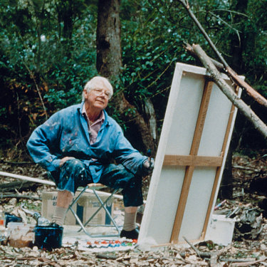 """Arthur Boyd painted almost every day at Bundanon, saying he """"couldn't exhaust this landscape""""."""