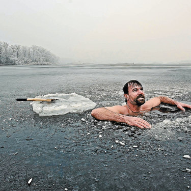 Dutch endurance athlete Wim Hof, whose namesake wellness method incorporates  a cycle of fast and slow breathing.