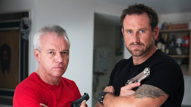 Former Royal Marines commando Jason Fox (right) hosts a show that interviews smugglers, assassins and those deep in the drug trade in Inside The Real Narcos.