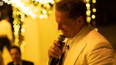 Karl Stefanovic speaks at his wedding to Jasmine Yarbrough.