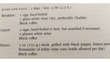 When someone posted this 40 year-old Vogue diet on Twitter, is went viral